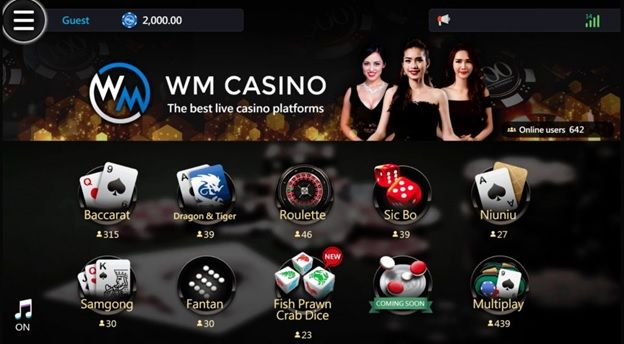 Online Games for Real Money at WM Casino